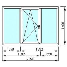 Металлопластиковое окно Тройное