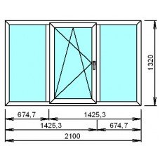 Металлопластиковое окно Тройное 2
