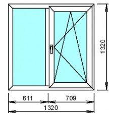 Металопластиковое окно двойное 2